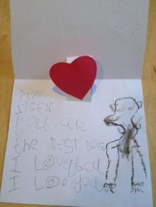 A boy's love note to his dog