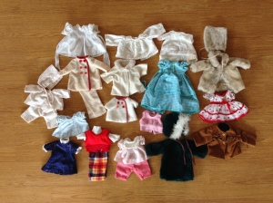 A sample of the many clothes my Grandma made for my Shirley Temple doll